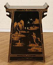 PETITE CHINOISERIE DECORATED ASIAN STYLE CABINET
