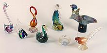 8 PIECES OF ART GLASS MURANO