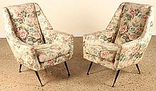 ITALIAN MCM LOUNGE UPLOSTERED LOUNGE CHAIRS 1960
