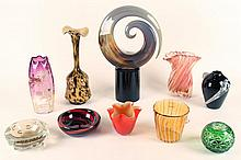 LOT OF 10 PIECES OF ART GLASS MURANO