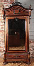 VICORTIAN MIRROR DOOR ARMOIRE CIRCA 1860