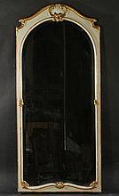 FRENCH GOLD GILT PAINTED ARCH TOP MIRROR 1900