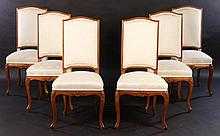 SET 6 FRENCH LOUIS XV HIGH BACK DINING CHAIRS