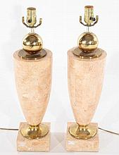 PAIR TASSELATED VASE FORM TABLE LAMPS CIRCA 1970