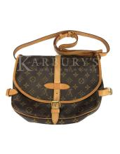 Louis Vuitton Saumur 30 Brown Monogram Canvas Bag