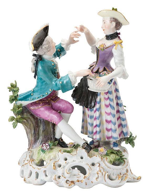 Kavalier mit Blumenmädchen