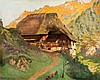 Black Forest house. Oil on structured cardboard., Curt Liebich, Click for value