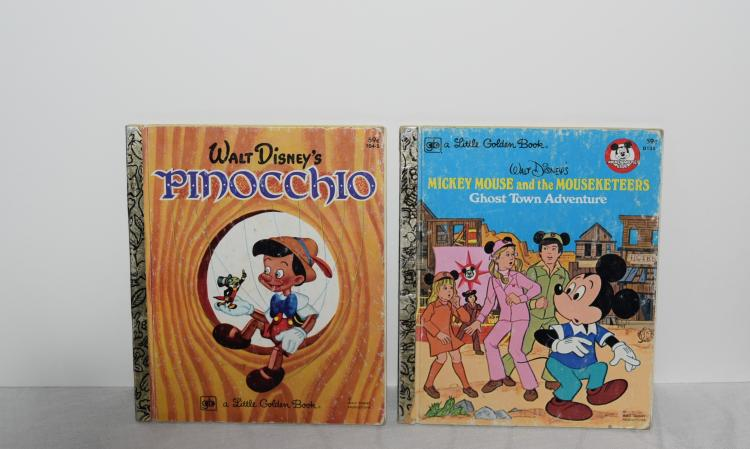 Pinocchio and Mickey Mouse Books