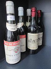 Three half bottles of wine, Gevrey Chambers, 1964