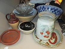A selection of Studio pottery and other ceramics