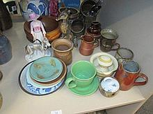 A selection of ceramics including Studio pottery,