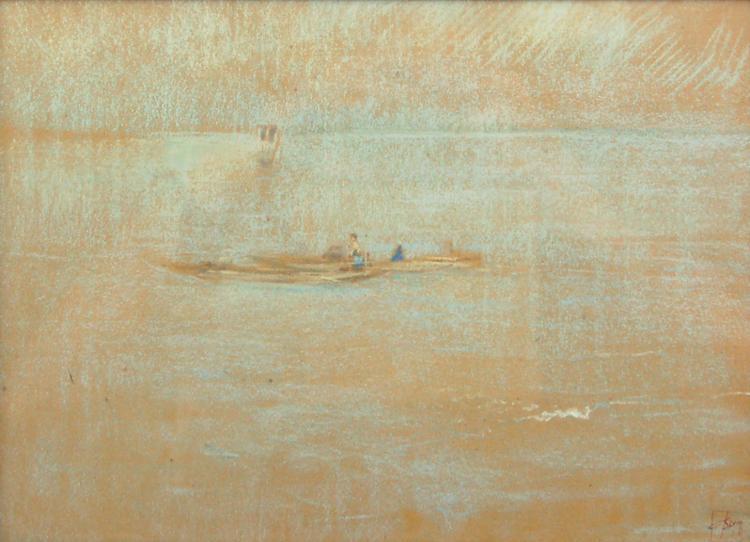 Sampans at Sea