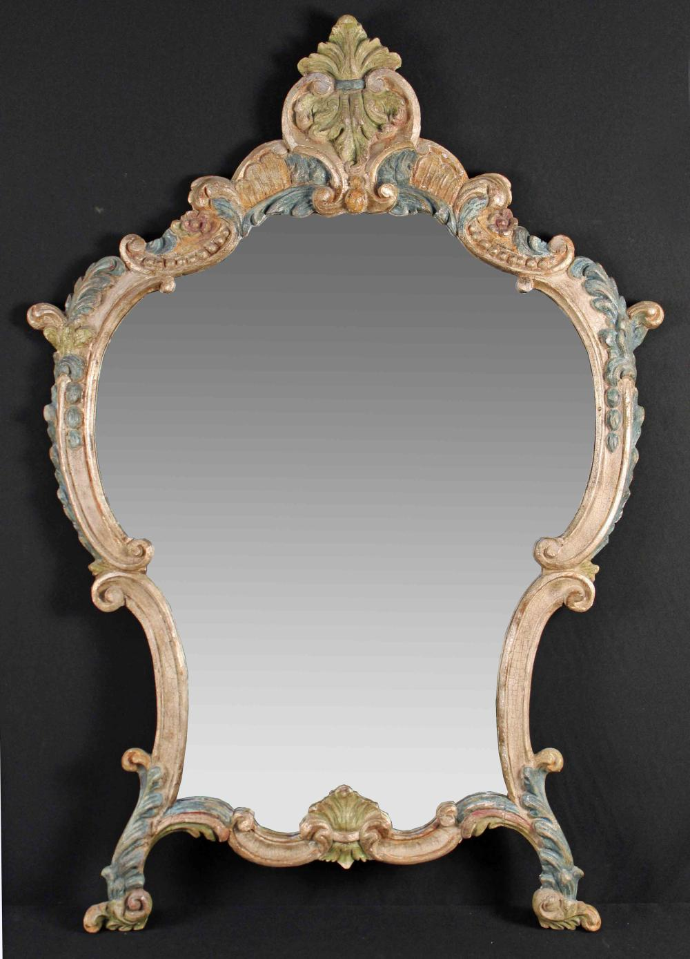 Sold Price Florentine Partial Gilt And Painted Wall Mirror September 6 0119 10 00 Am Cdt