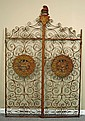 Antique Wrought Iron Wine Cellar Doors with Lions