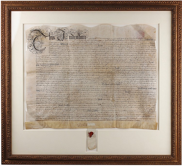 One of William Penn's Earliest Pennsylvania Deeds - with a Bonus Parcel That is Now Part of Independence Mall