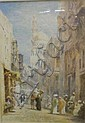 Watercolour 'A Street In The Native Quarter Cairo'