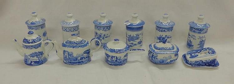 Spode Blue Room Spice Jars