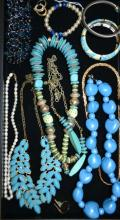 Assorted Tray of Beaded Costume Jewelry