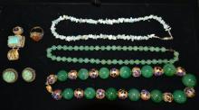 Vintage Jade Jewelry Lot