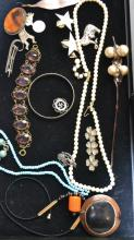 Silver & Costume Jewelry Grouping