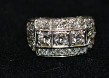 c.1920 Vintage Platinum Diamond Ring