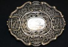 19th Century Coin Silver, Dragon Dish