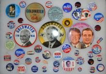 Collection of Political Nixon Pin Backs & Ribbons