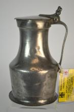 18th/19th C French Pewter 'Normandy' style Flagon