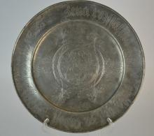 Rare, 17th/18th C German Pewter Charger