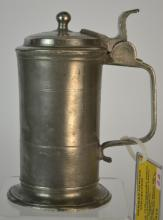 Early 19th Century North German Pewter Tankard