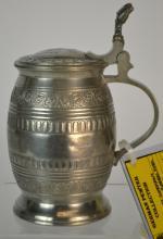 19th Century German Pewter Beer Stein
