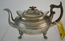 19th Century English Pewter Teapot