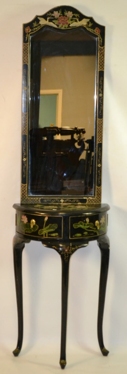 Asian style small hallway table mirror for Asian style mirror