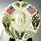 Taft 1908 Campaign Milk Glass Plate