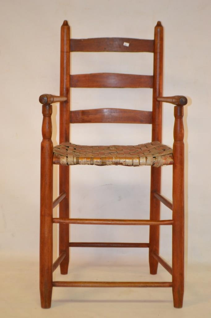 Shaker weaver 39 s chair american 19th c for Furniture auctions uk