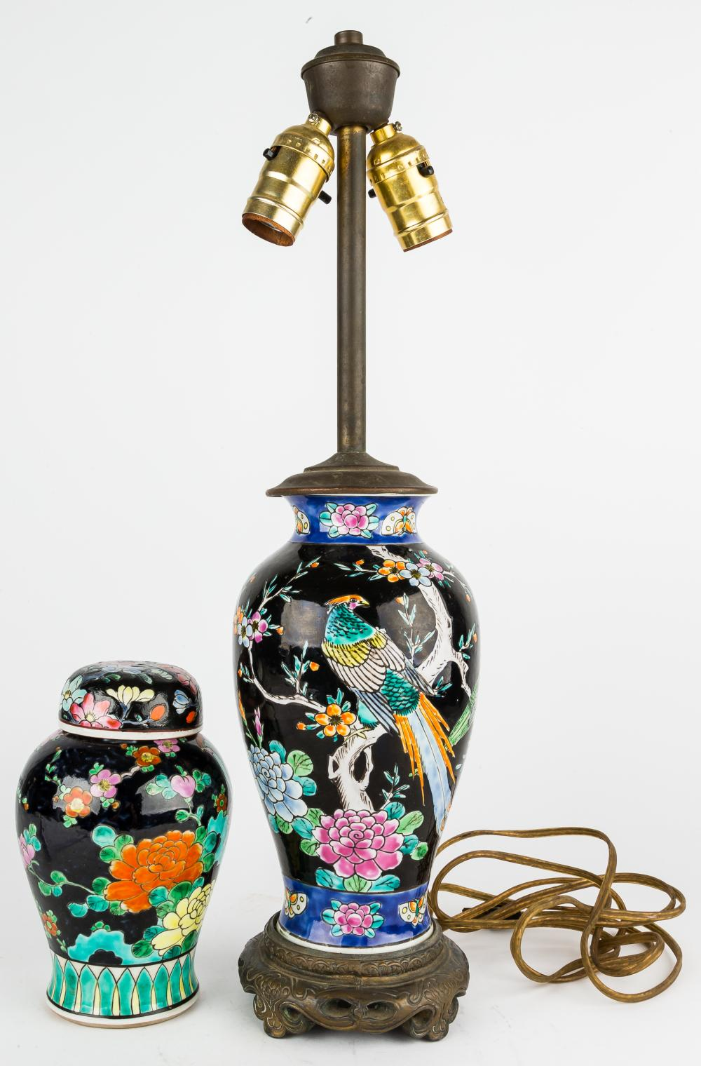 Chinese Porcelain Lamp & Vase