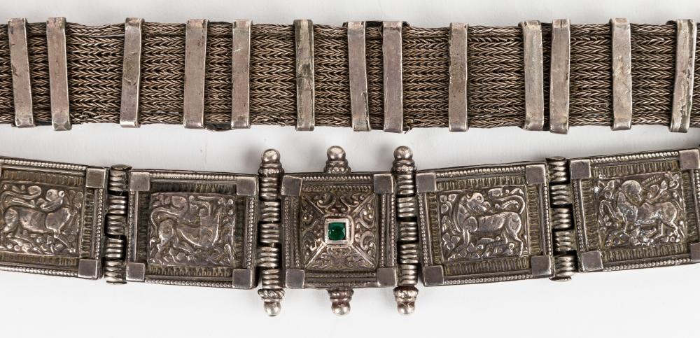 Chinese / Tibetan Silver Belt