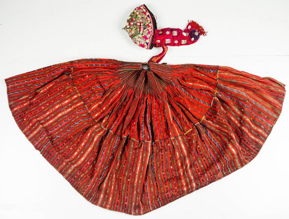 Asian Handmade Skirt & Hat