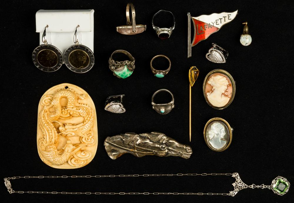 Estate Sterling Victorian to Art Deco Jewelry
