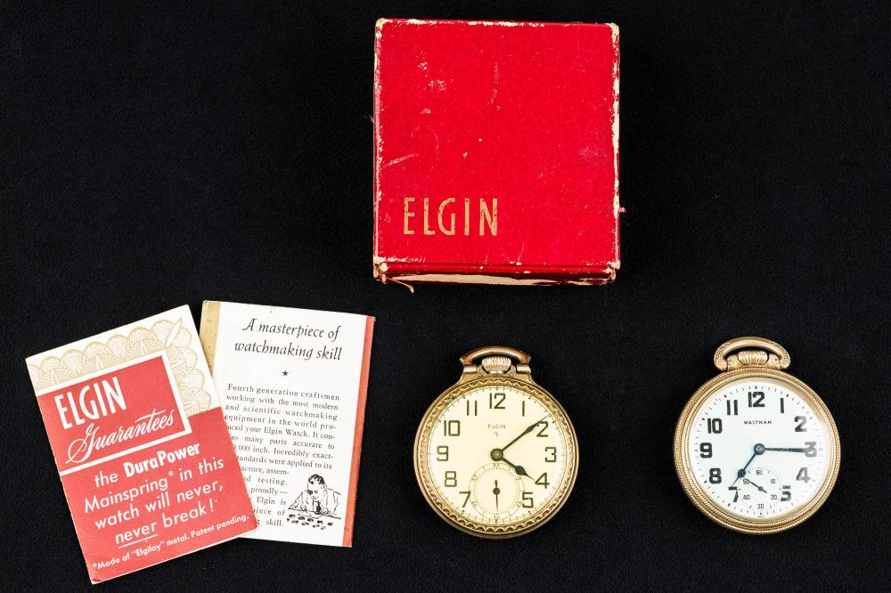 Elgin and Waltham Antique Pocket Watches