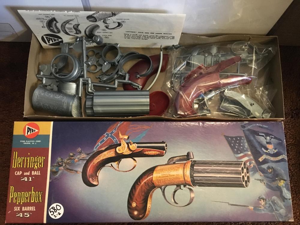 Two Pyro gun model kits/vintage