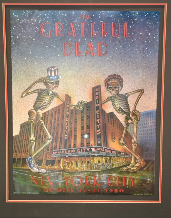 Grateful dead poster radio city music hall 1980 for House music 1980