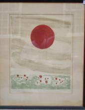 Arthur Flory (1914 - 1972) The Brilliant Red Sun