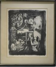 Arthur Flory 1914-1972, Wood Cut Benton Spruance