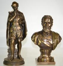 Busts of Shakespeare and Michelangelo