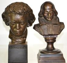 Busts of Shakespeare and Beethoven