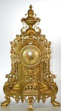 Large Brass Mantle Clock