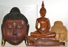 Wooden Buddha Grouping