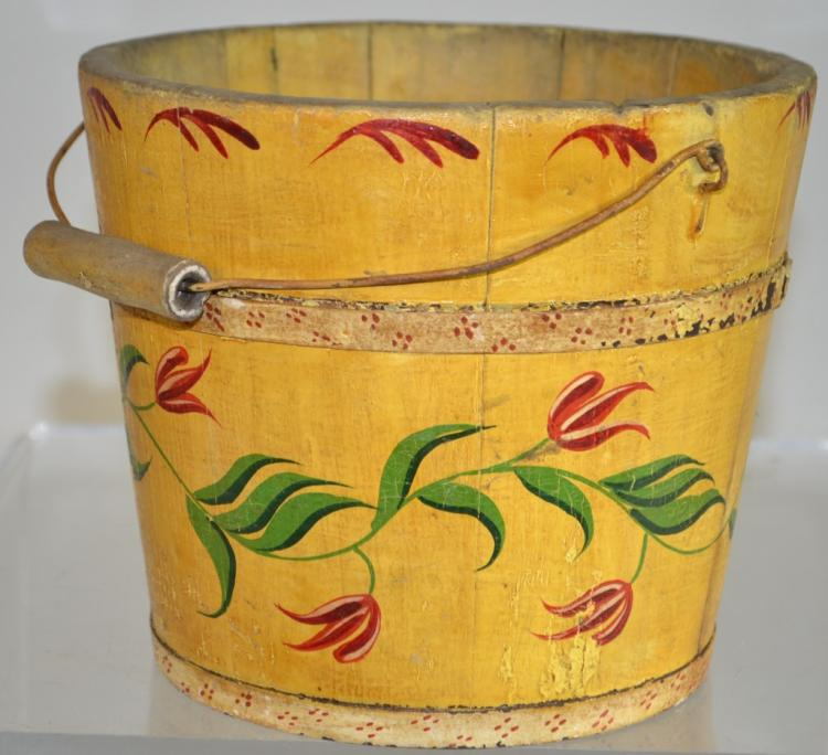 Hand Decorated Wooden Bucket