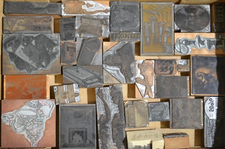 Collection of Advertising Typeset Blocks